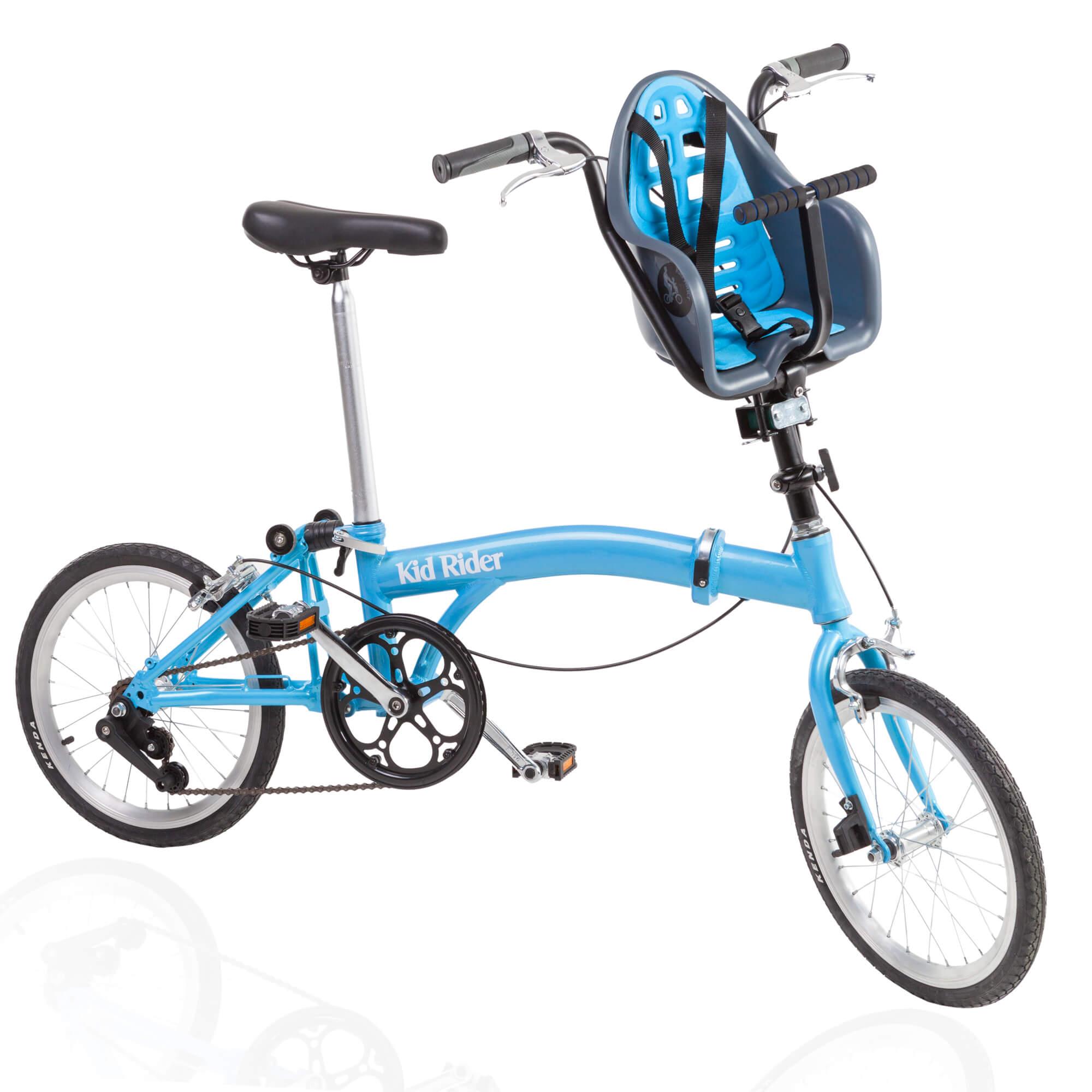 Bicicleta plegable con silla portabebés